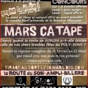 MARS çA TAPE- JEU CONCOURS
