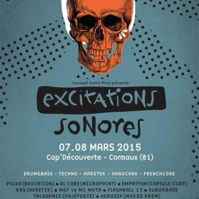 7 et 8 MARS 2015 - EXCITATIONS SONORES